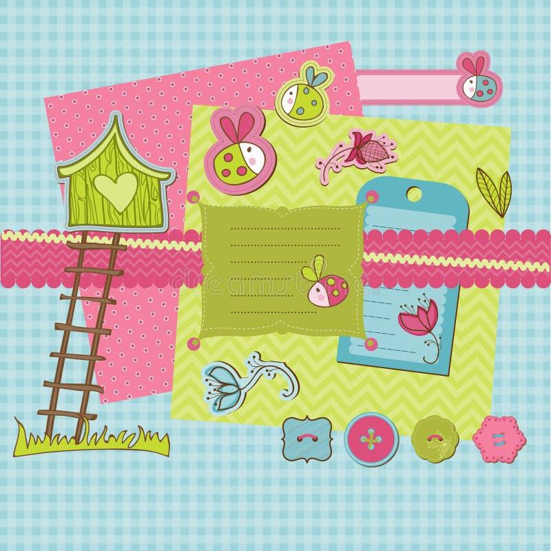 Het ontwerpelementen van het plakboek royalty-vrije illustratie