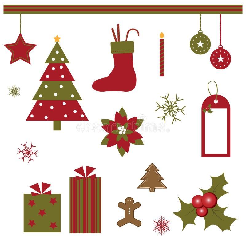 Het ontwerpelementen van Kerstmis stock illustratie