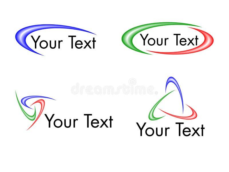 Het ontwerpelementen van Swoosh vector illustratie