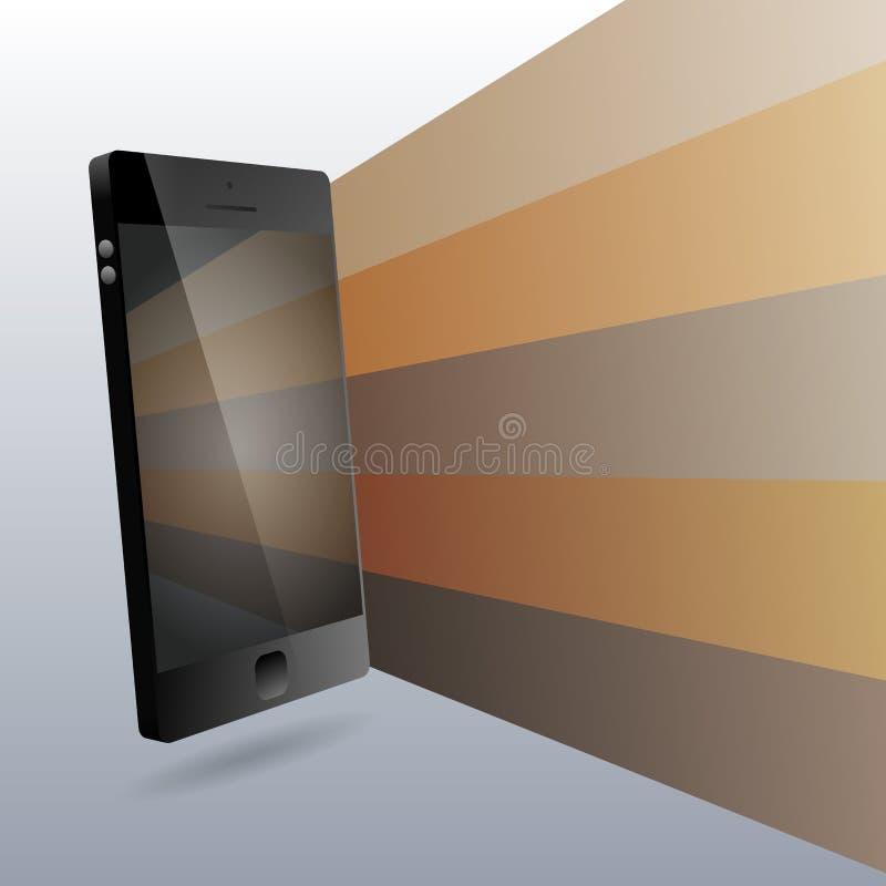 Het Ontwerpelementen van telefoon 3D Copyspace vector illustratie