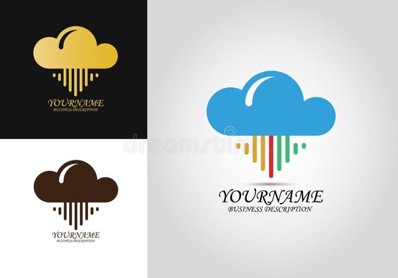 Het Ontwerpembleem van de wolkenpijl royalty-vrije stock afbeelding