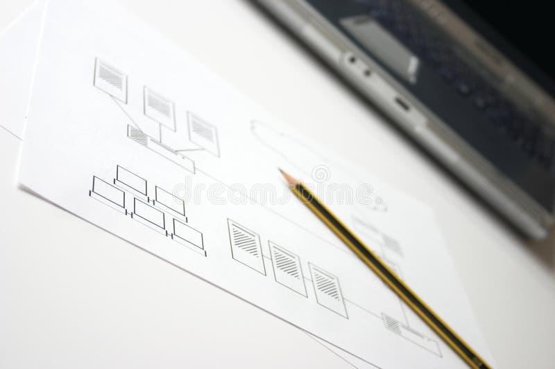 Het ontwerpen van het netwerk royalty-vrije stock fotografie