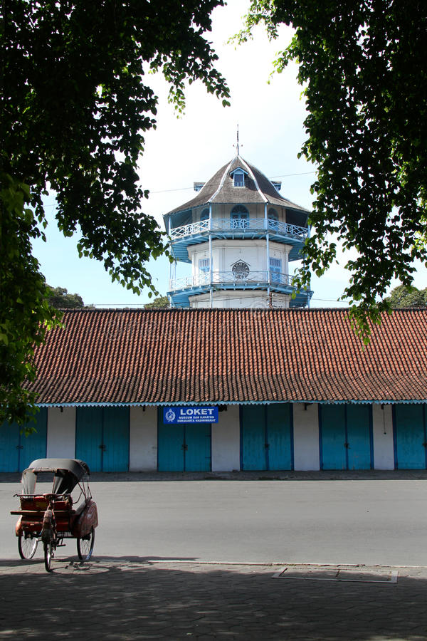 Het ontwerpen van het Paleis van Kasunanan Surakarta stock afbeeldingen