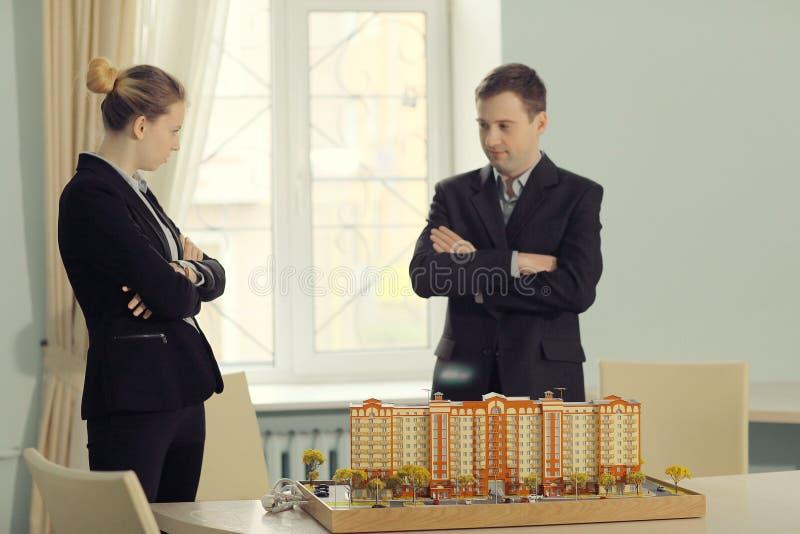 Het ontwerpen van het woningshuis stock fotografie