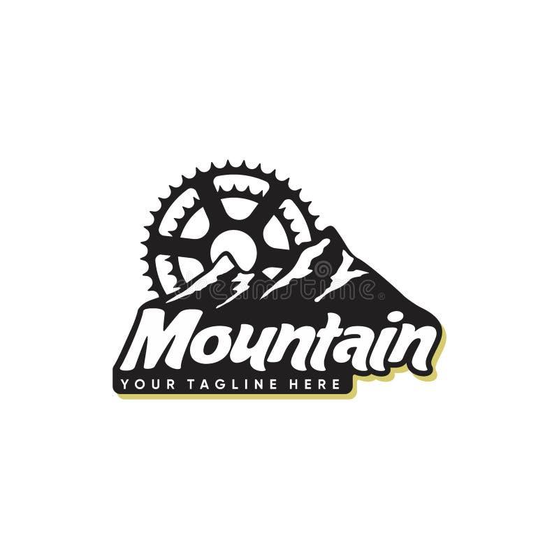 Het ontwerpinspiratie van het bergembleem, bergaf de inspiratie van het embleemontwerp vector illustratie