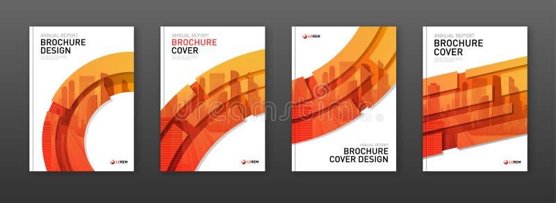 Het ontwerplay-out van de brochuredekking voor zaken en bouw stock illustratie