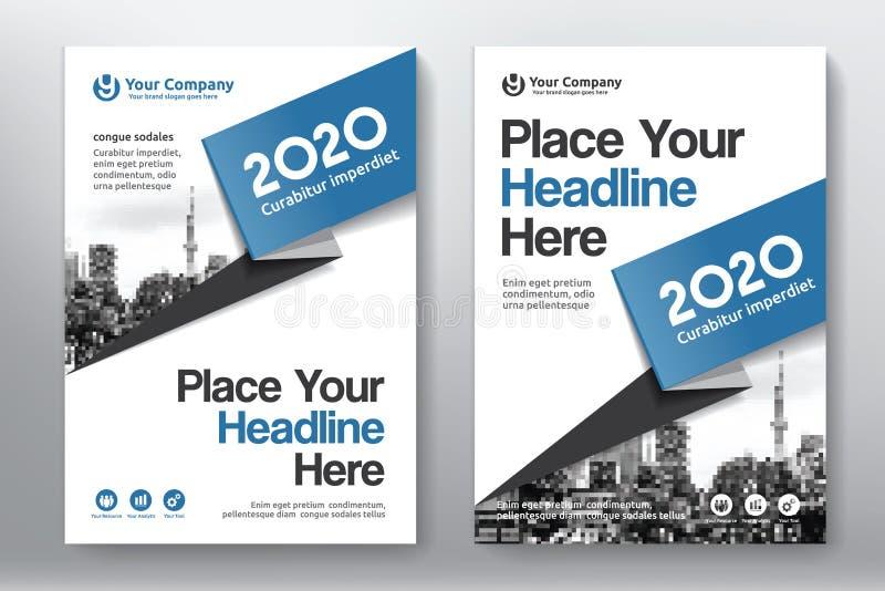 Het Ontwerpmalplaatje stads Achtergrond van de Bedrijfsboekdekking in A4 royalty-vrije stock afbeelding