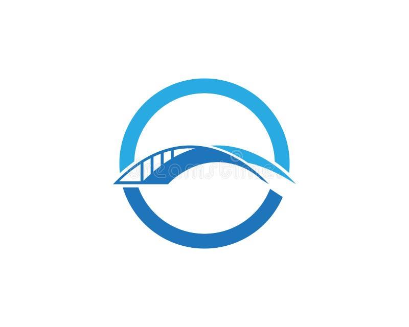 Het ontwerpmalplaatje van het brugembleem royalty-vrije stock afbeeldingen