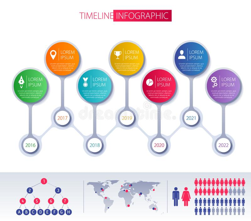 Download Het Ontwerpmalplaatje Van Chronologieinfographic Vector Illustratie - Illustratie bestaande uit illustratie, grafiek: 114225095