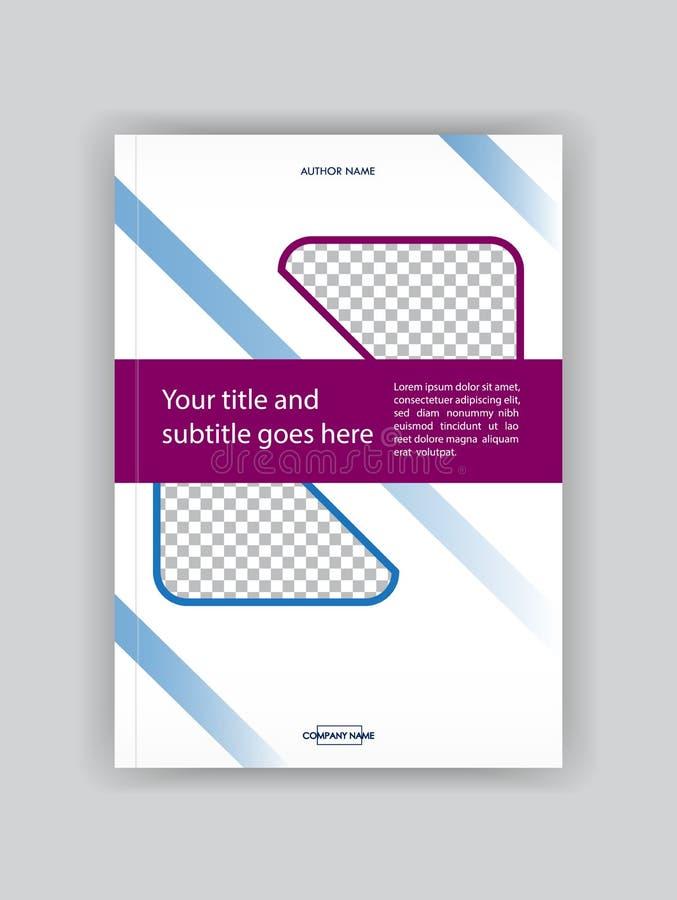 Het Ontwerpmalplaatje van de bedrijfsboekdekking Goed voor Portefeuille, Brochur stock illustratie