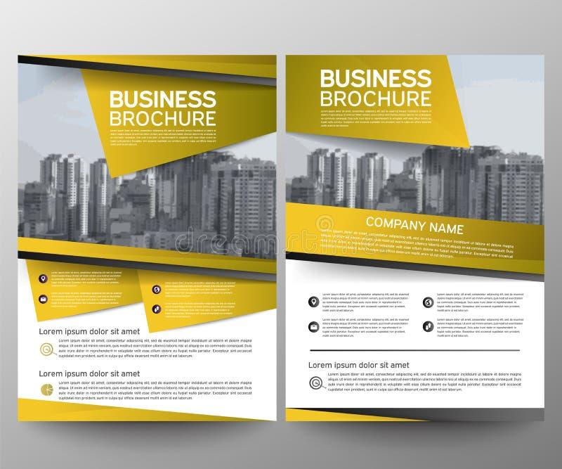 Het ontwerpmalplaatje van de bedrijfsbrochurevlieger Jaarverslag Moderne de presentatie abstracte geometrische achtergrond van de vector illustratie