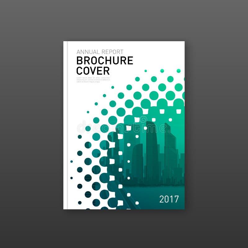 Het ontwerpmalplaatje van de brochuredekking voor bouw stock foto