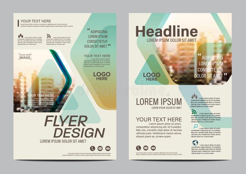 Het ontwerpmalplaatje van de brochurelay-out Van de het Pamfletdekking van de Jaarverslagvlieger de Presentatie Moderne achtergro vector illustratie