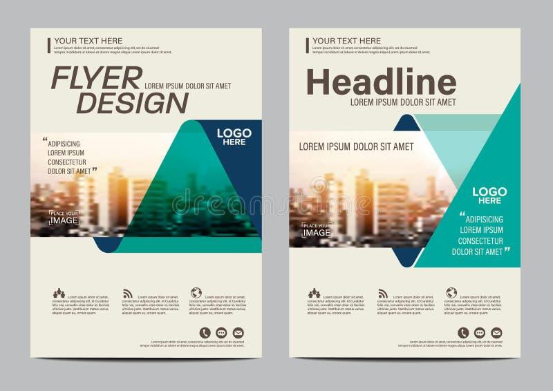 Het ontwerpmalplaatje van de brochurelay-out Van de het Pamfletdekking van de Jaarverslagvlieger de Presentatie Moderne achtergro royalty-vrije illustratie