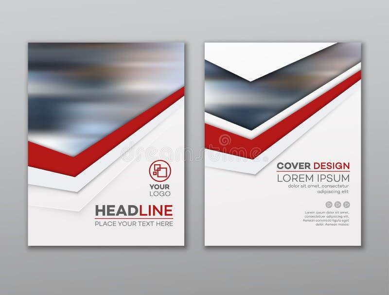 Het ontwerpmalplaatje van de brochurevlieger De presentatie abstracte vlakke achtergrond van de pamfletdekking Vector illustratie royalty-vrije illustratie