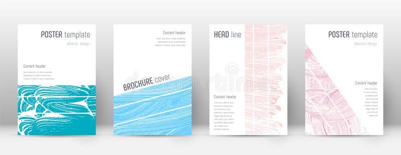 Het ontwerpmalplaatje van de dekkingspagina De geometrische brochure lag stock illustratie