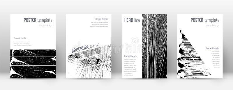 Het ontwerpmalplaatje van de dekkingspagina De geometrische brochure lag royalty-vrije illustratie