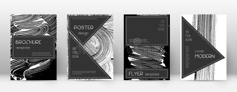 Het ontwerpmalplaatje van de dekkingspagina Zwarte brochurelay-out Beauteous in abstracte dekkingspagina Zwarte en W vector illustratie