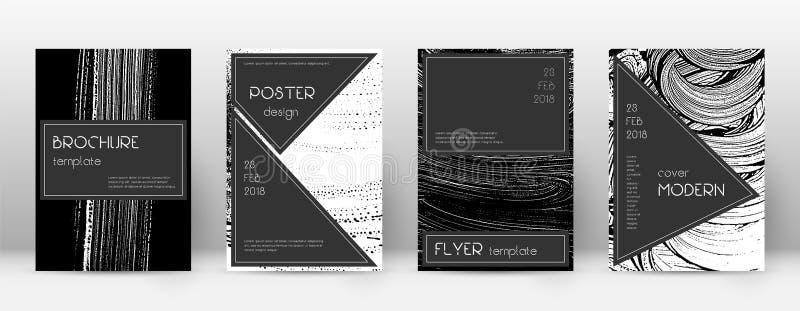 Het ontwerpmalplaatje van de dekkingspagina Zwarte brochurelay-out vector illustratie