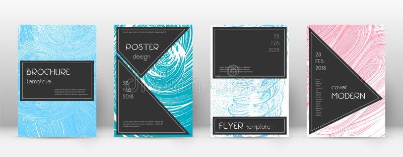 Het ontwerpmalplaatje van de dekkingspagina Zwarte brochurelay-out Ontzagwekkende in abstracte dekkingspagina royalty-vrije illustratie