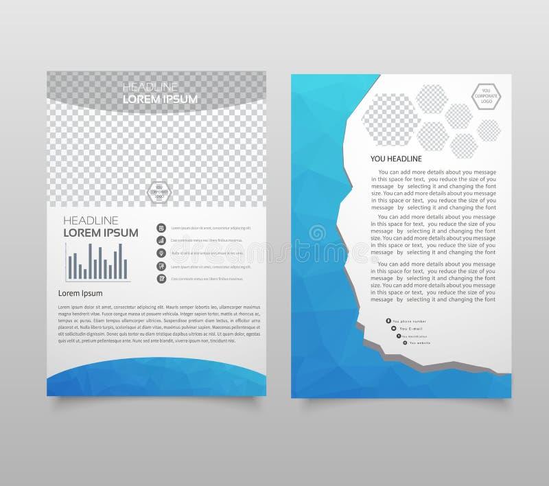 Het ontwerpmalplaatje van de presentatielay-out De pagina van de jaarverslagdekking B royalty-vrije illustratie