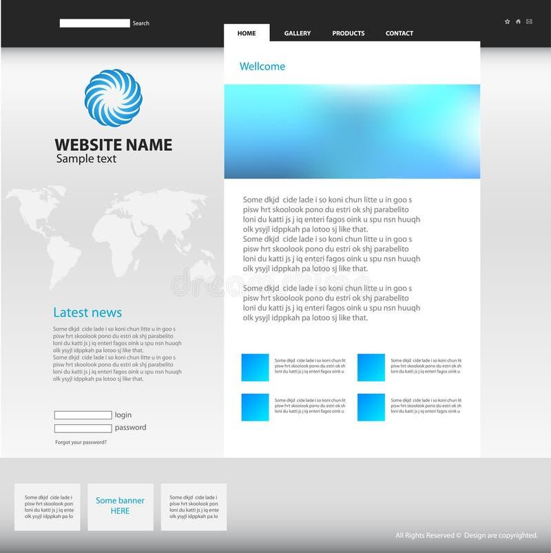 Het ontwerpmalplaatje van de website. stock illustratie