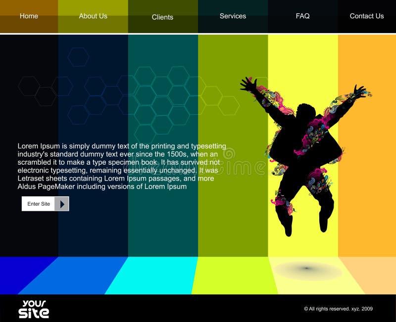 Het ontwerpmalplaatje van de website stock illustratie