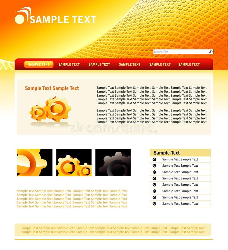 Het ontwerpmalplaatje van de website vector illustratie