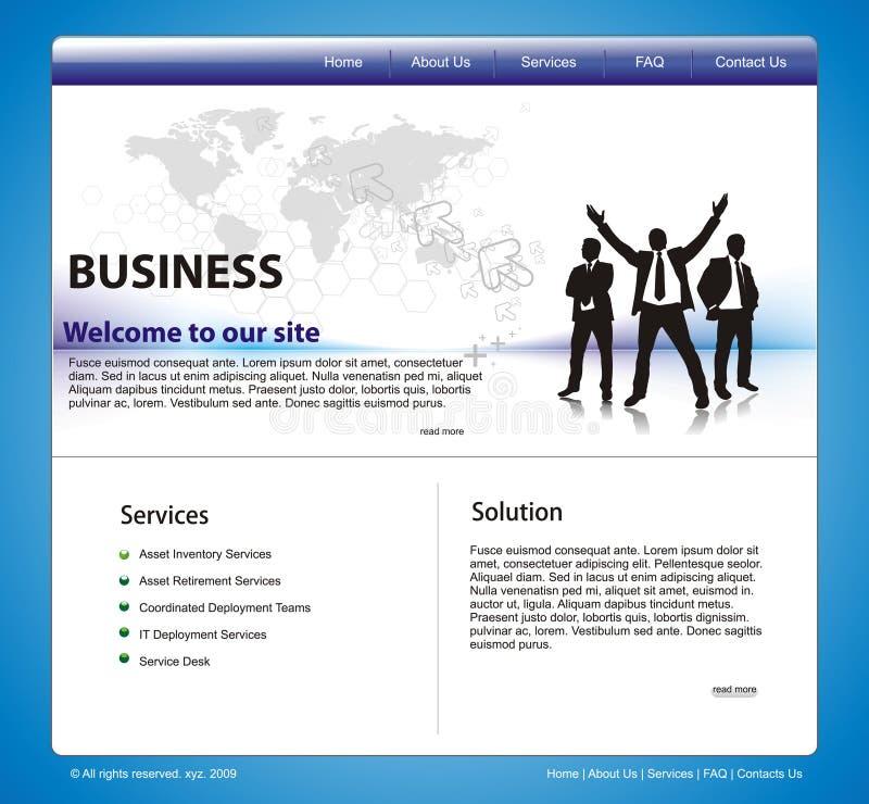 Het ontwerpmalplaatje van de website royalty-vrije illustratie