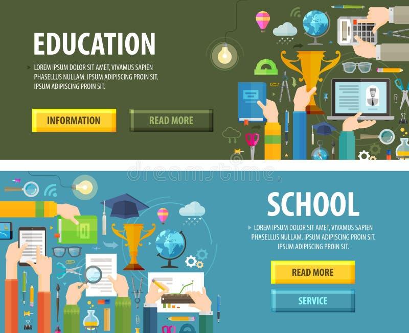 Het ontwerpmalplaatje van het onderwijs vectorembleem school of vector illustratie