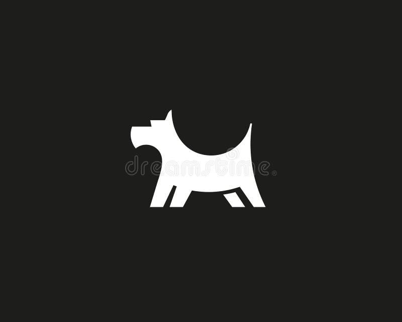 Het ontwerpmalplaatje van het puppyembleem Hond creatief teken Huisdieren veterinair vectorpictogram logotype stock illustratie