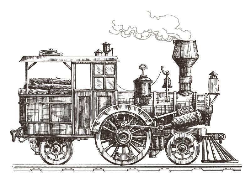 Het ontwerpmalplaatje van het stoom voortbewegings vectorembleem stock illustratie