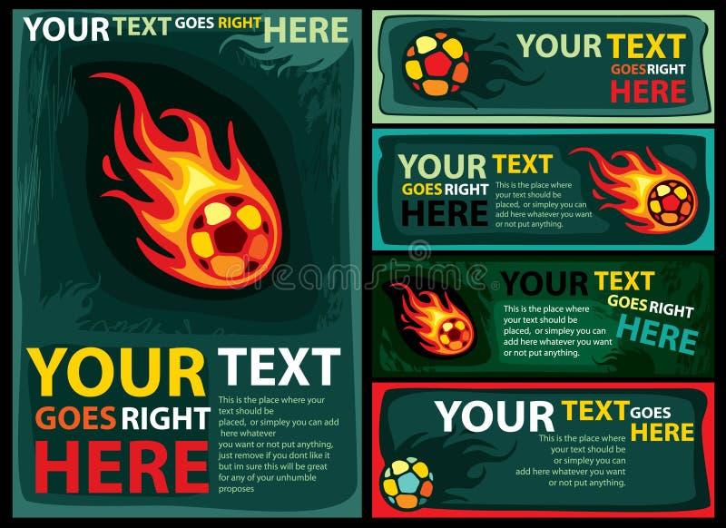 Het ontwerpmalplaatje van het voetbal royalty-vrije illustratie