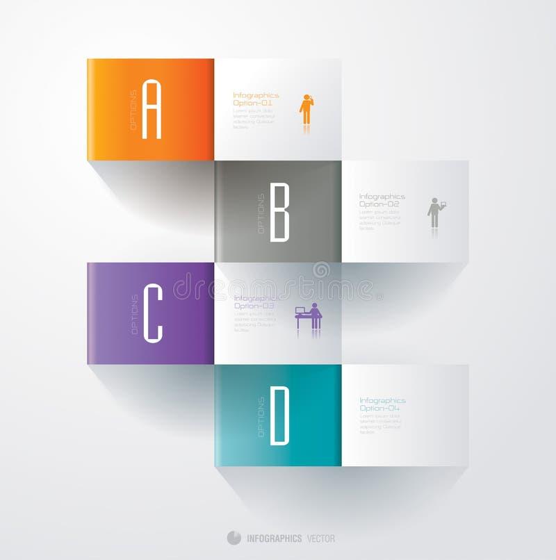 Het ontwerpmalplaatje van Infographics royalty-vrije illustratie