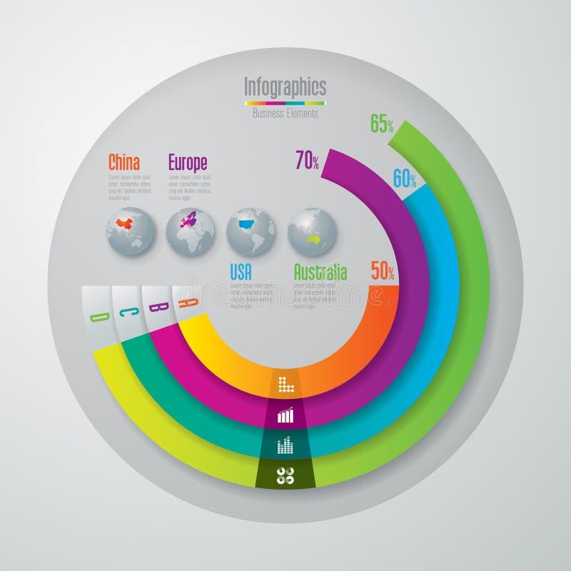 Het ontwerpmalplaatje van Infographics stock illustratie