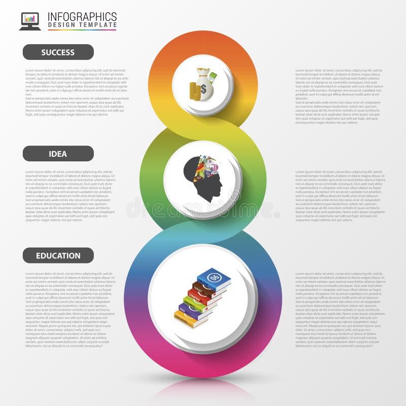 Het ontwerpmalplaatje van Infographics Modern bedrijfsconcept Vector illustratie royalty-vrije illustratie