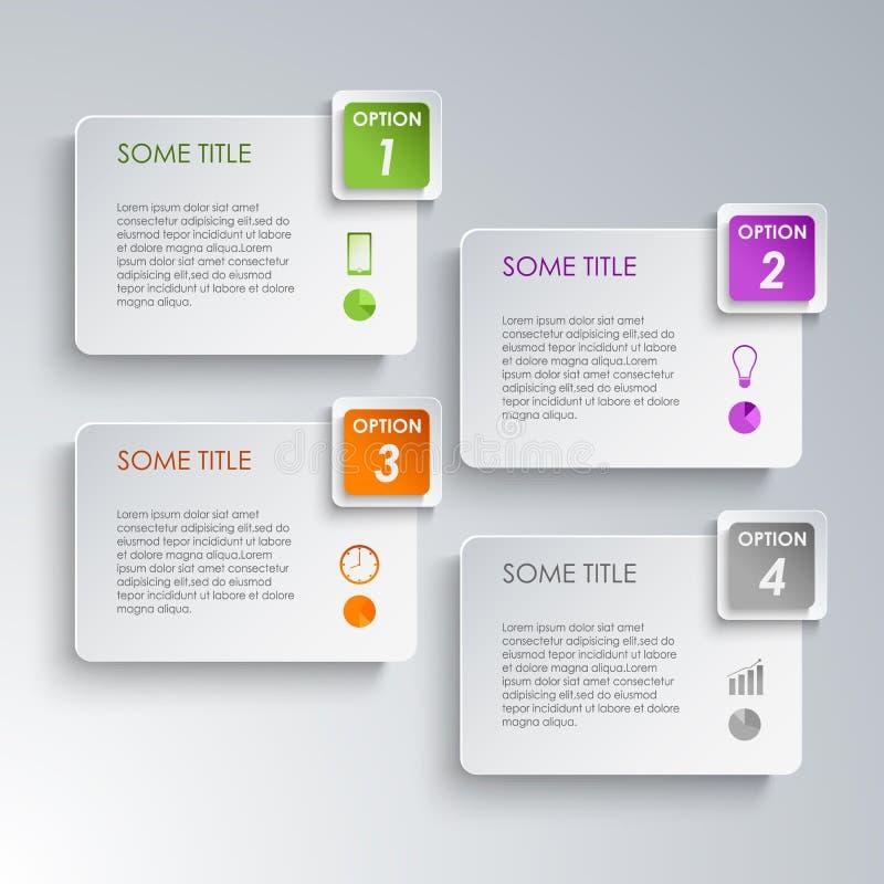 Het ontwerpmalplaatje van informatie grafisch opties royalty-vrije illustratie