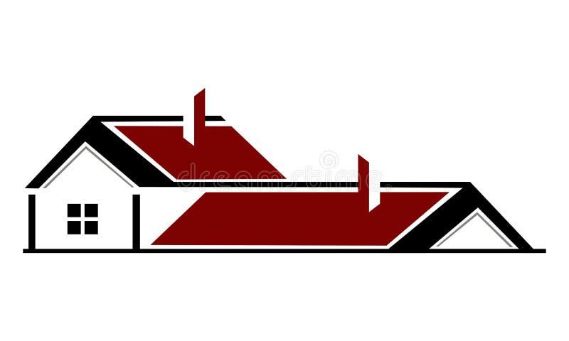 Het ontwerpmalplaatje van het onroerende goederenembleem vector illustratie