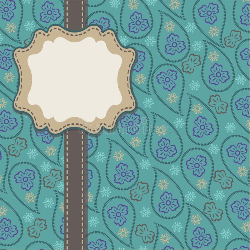 Het ontwerpmalplaatje van Paisley van mensen, kunstwerk, achtergrond royalty-vrije illustratie