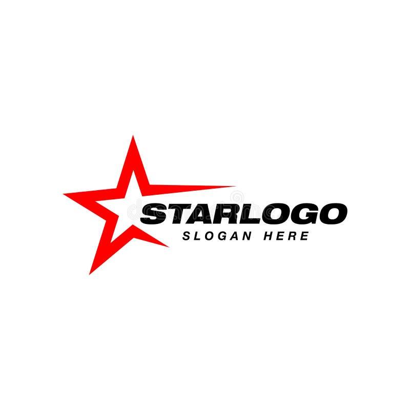 Het ontwerpmalplaatje van het sterembleem Ster vectorpictogram royalty-vrije illustratie