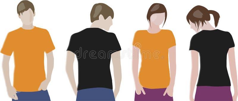 Het ontwerpmalplaatjes van de t-shirt vector illustratie