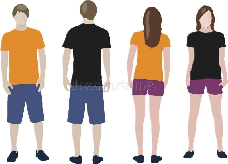 Het ontwerpmalplaatjes van de t-shirt stock illustratie