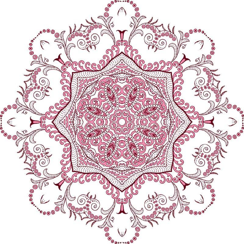 Het ontwerpmanier van de Mandalahenna royalty-vrije illustratie