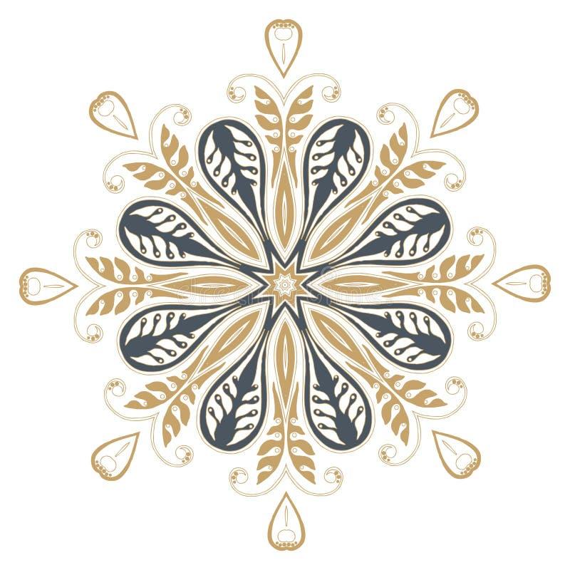 Het ontwerpmanier van de Mandalahenna vector illustratie