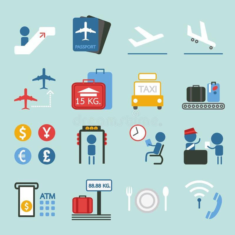 Het ontwerpreeks II van het luchthavenpictogram vector illustratie