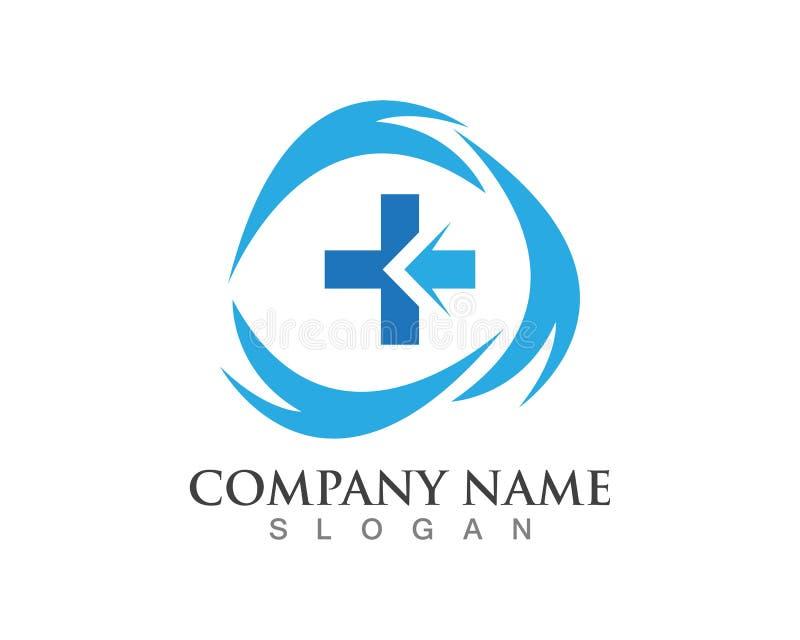 Het ontwerpsymbool van het het ziekenhuisembleem stock illustratie