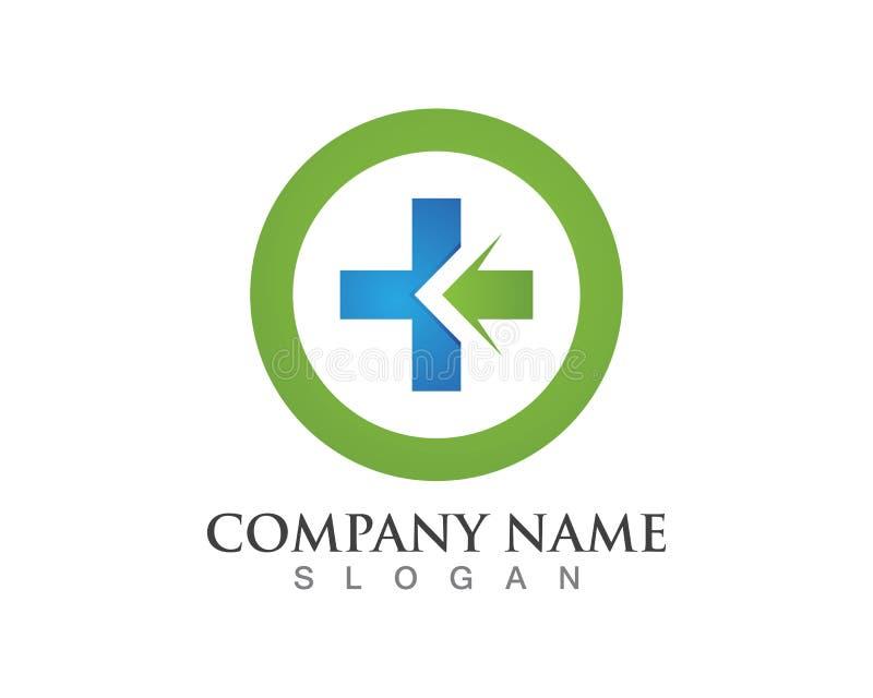 Het ontwerpsymbool van het het ziekenhuisembleem vector illustratie