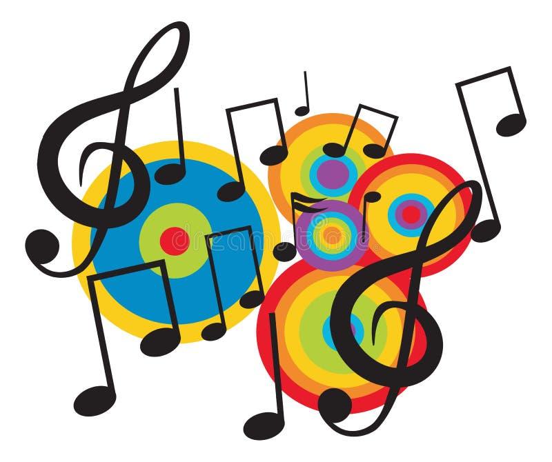 Het ontwerpthema van de muziek royalty-vrije illustratie