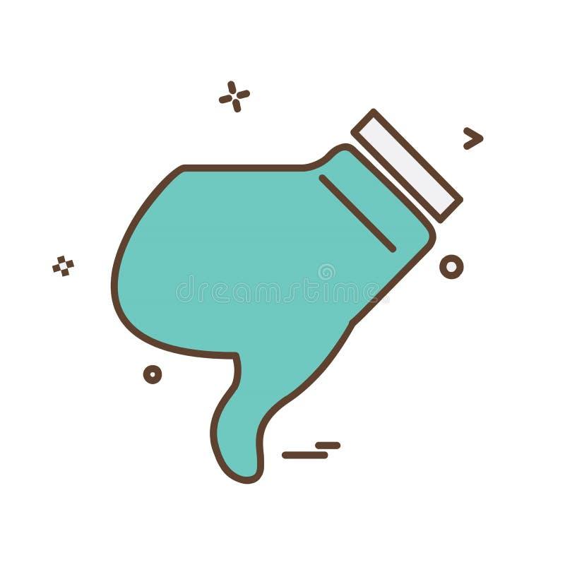 Het ontwerpvector van het afkeerpictogram stock illustratie