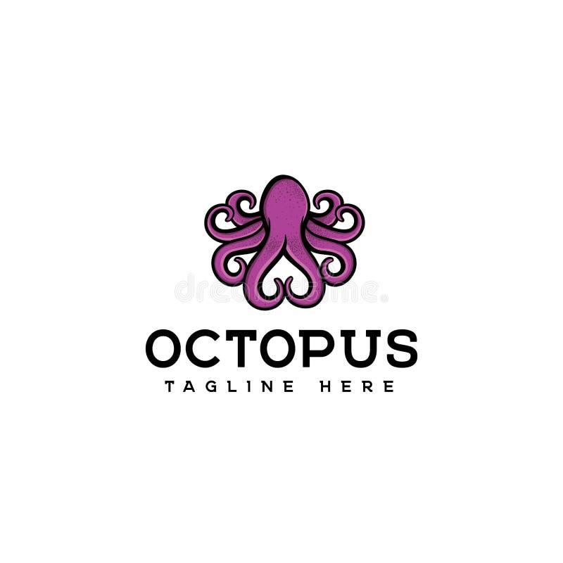 Het ontwerpvector van het octopusembleem, het ontwerp van het octopusembleem, eenvoudige octopusvector vector illustratie